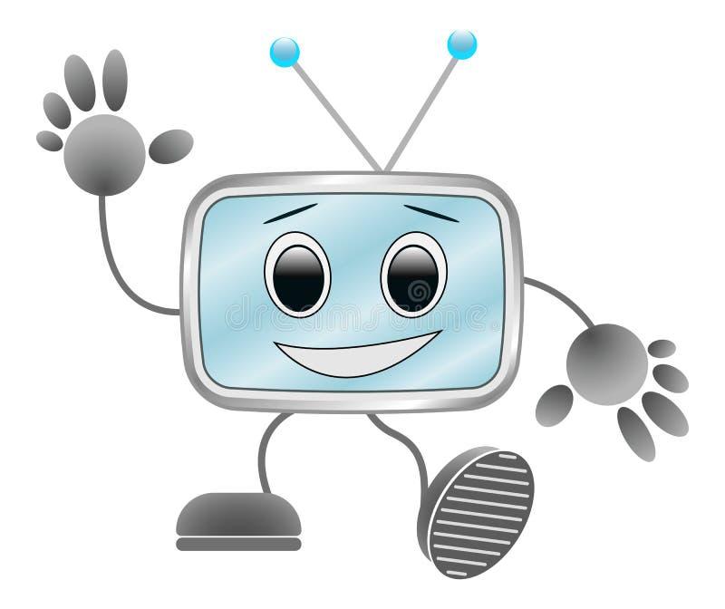 传染媒介滑稽的机器人 免版税库存图片