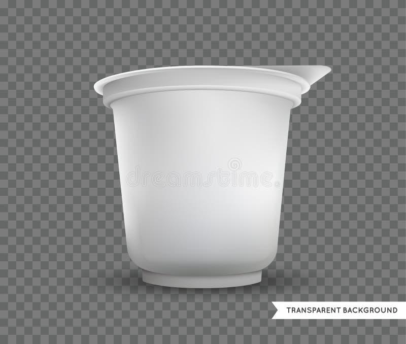 传染媒介空白的白色箔食品包装llustration隔绝了嘲笑 库存例证