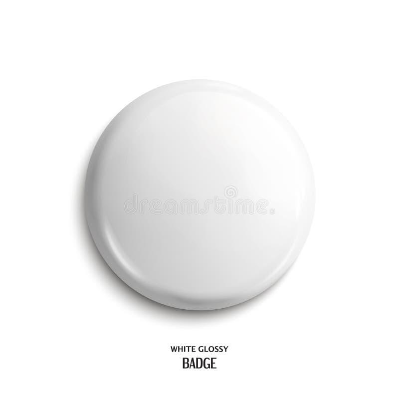 传染媒介空白,白色光滑的徽章 皇族释放例证