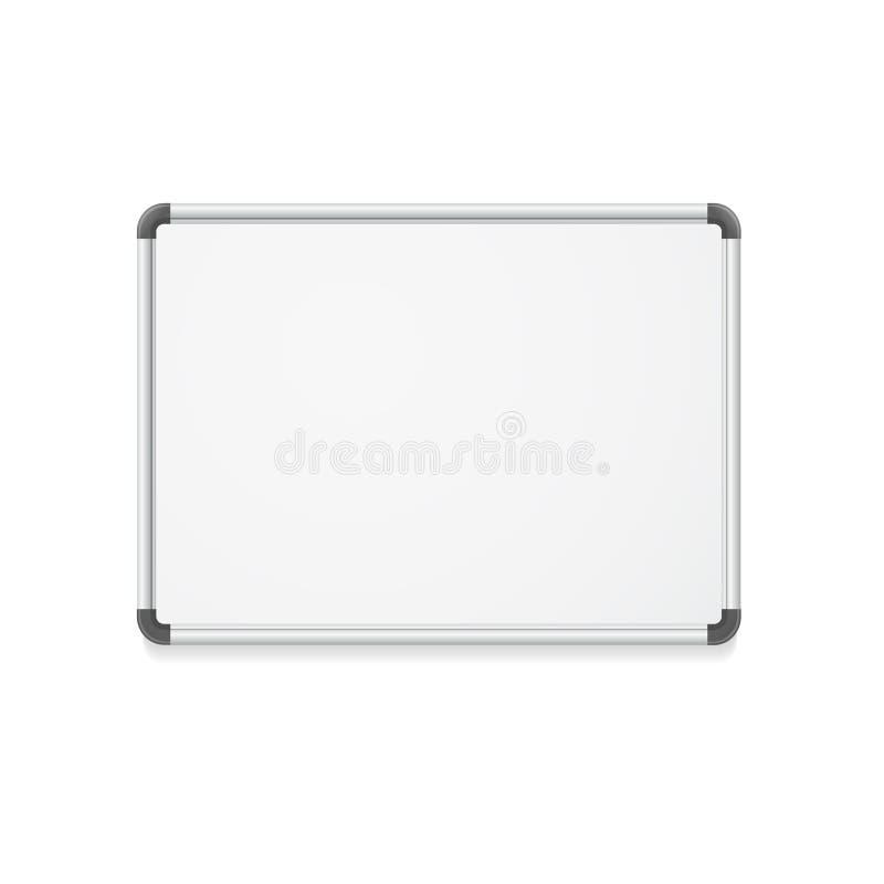 传染媒介空的whiteboard 库存例证