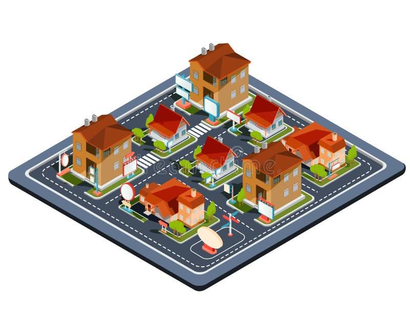 传染媒介等量例证住宅处所 向量例证
