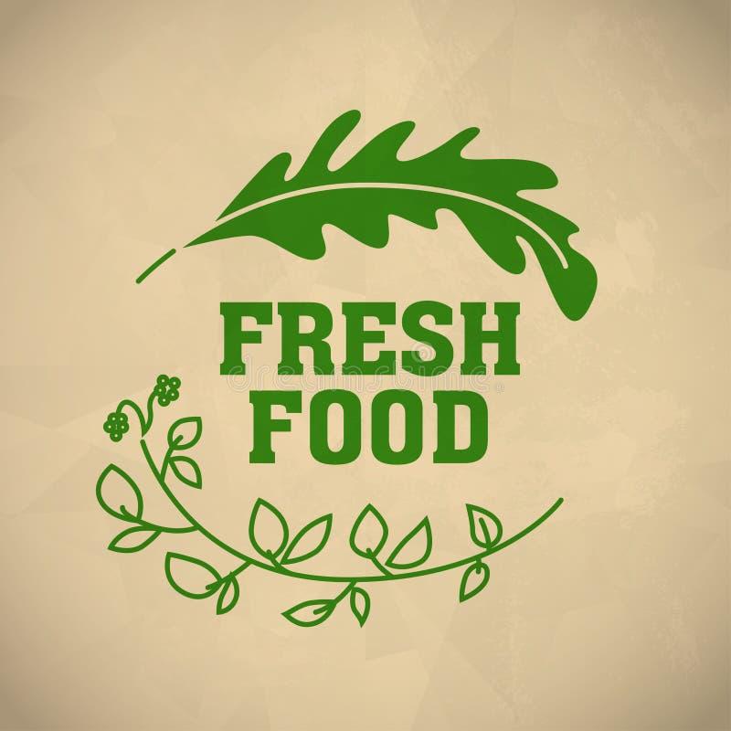 传染媒介简单的平的食物商标 皇族释放例证