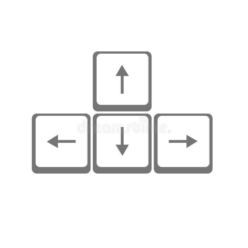 传染媒介箭头按钮键盘 库存例证