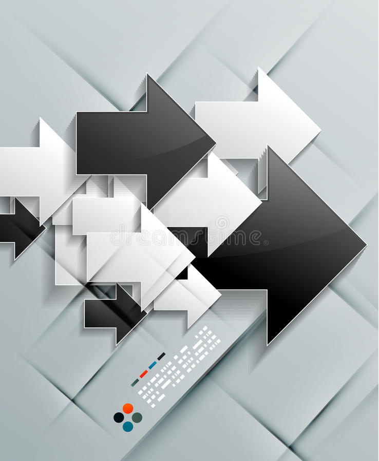 传染媒介箭头纸现代设计 库存例证