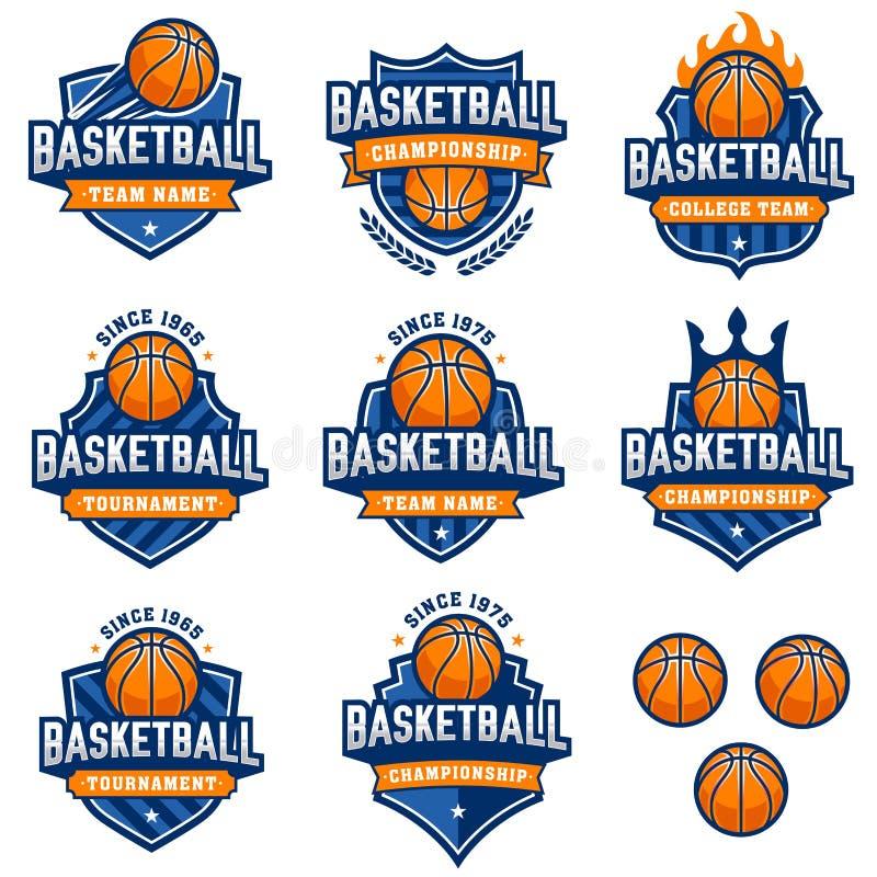 传染媒介篮球商标 库存例证
