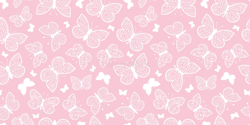 传染媒介粉红彩笔蝴蝶重复无缝的样式背景 能为织品,墙纸,文具使用 向量例证