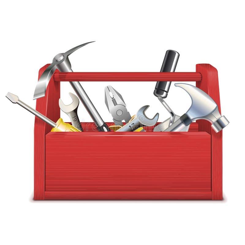 传染媒介红色工具箱 向量例证