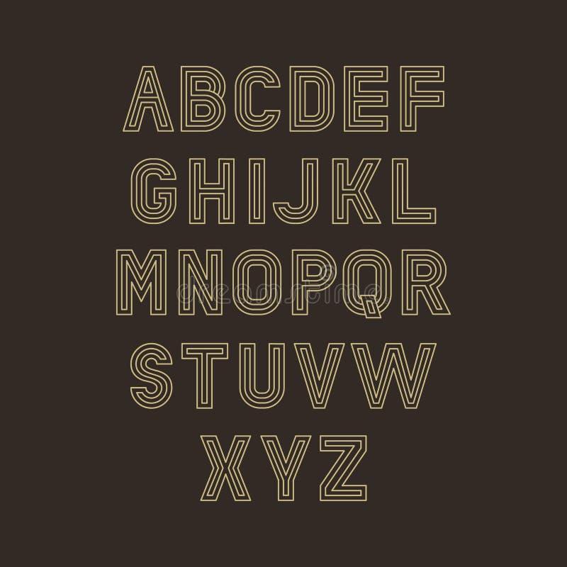 传染媒介线性字体 皇族释放例证