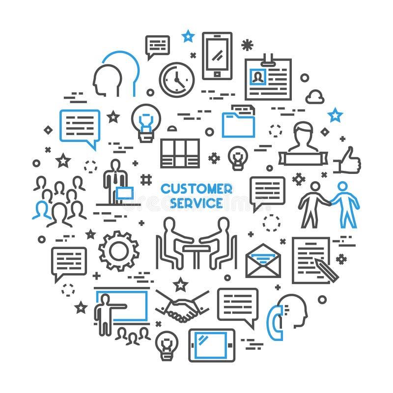传染媒介线概念顾客服务 库存例证