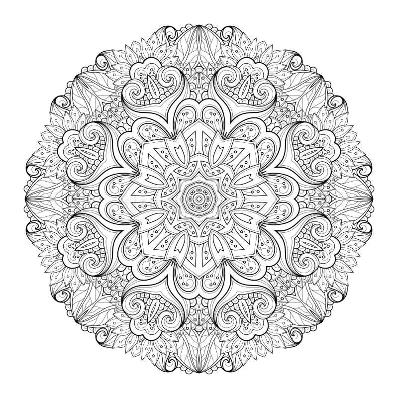 传染媒介美丽的Deco单色等高坛场 向量例证