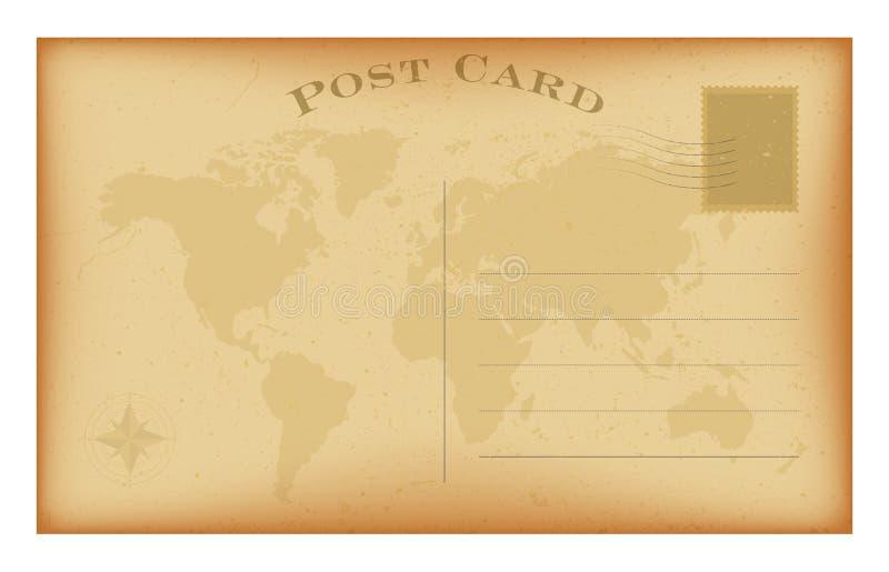 传染媒介老明信片 难看的东西纸葡萄酒背景 皇族释放例证