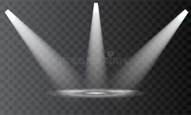 传染媒介聚光灯 场面 射线光线影响 皇族释放例证