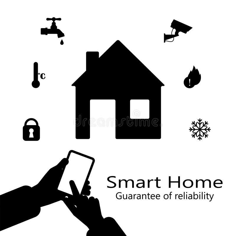 传染媒介聪明的家 平的设计样式例证 聪明的房子控制系统 皇族释放例证
