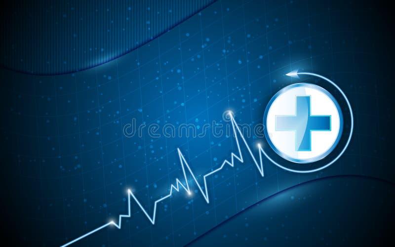 传染媒介背景医疗保健概念 皇族释放例证