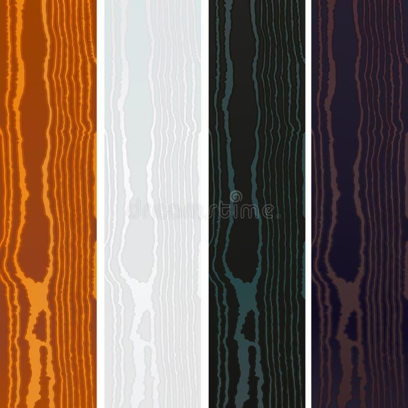 传染媒介色的木头上纹理 库存例证