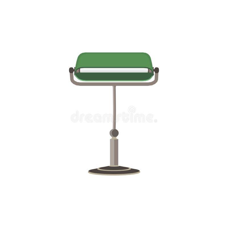 传染媒介绿色银行家灯 库存例证