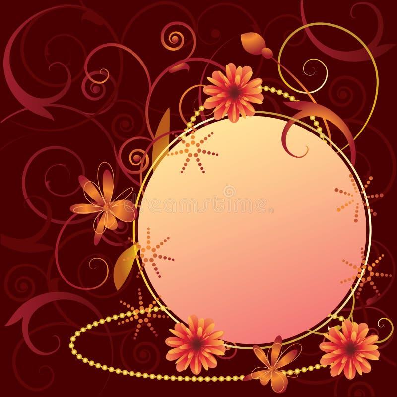 传染媒介花卉华丽框架 向量例证