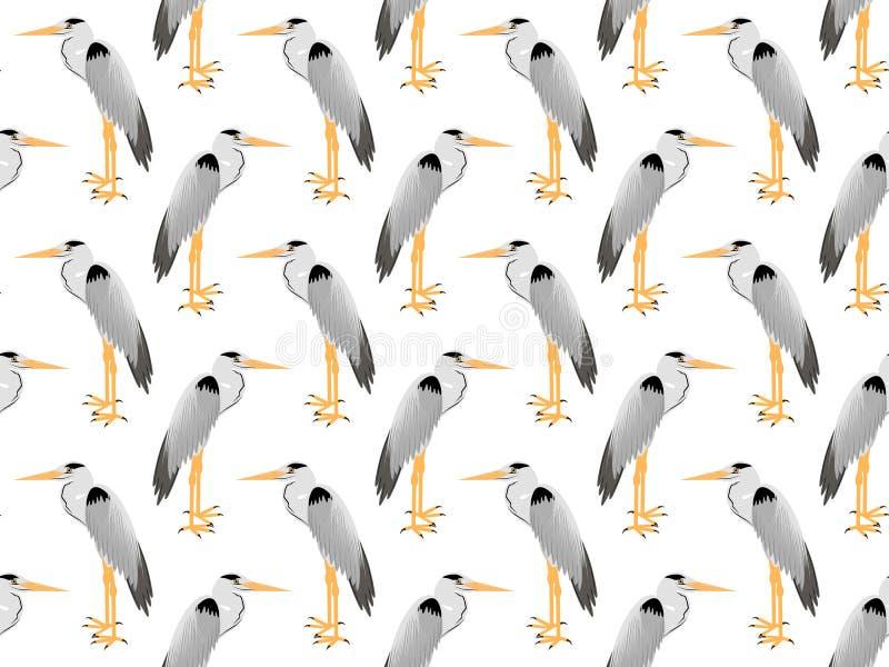 传染媒介苍鹭的样式 库存例证