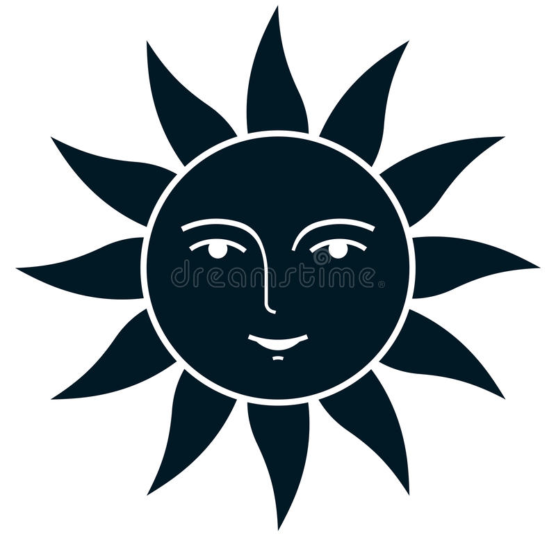 传染媒介葡萄酒在白色隔绝的太阳例证 皇族释放例证