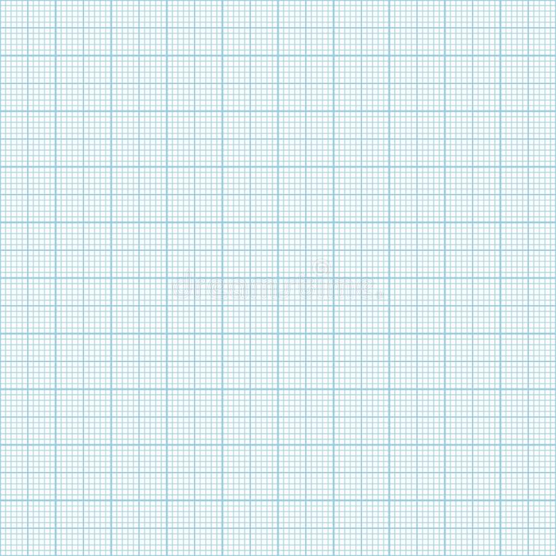 传染媒介蓝色公尺座标图纸无缝的样式 向量例证