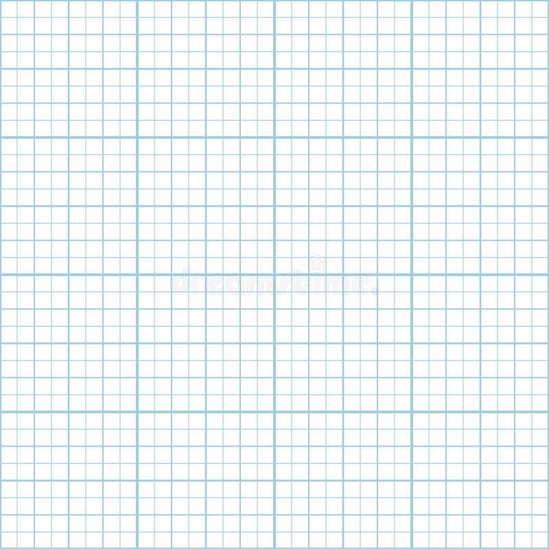 传染媒介蓝色英寸座标图纸无缝的样式 向量例证