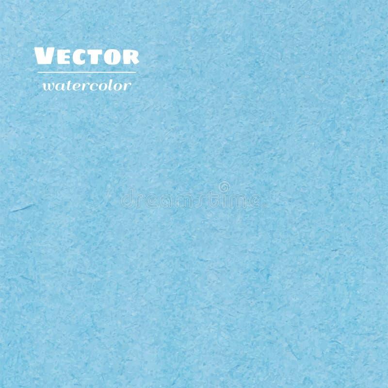 传染媒介蓝色水彩背景 免版税图库摄影