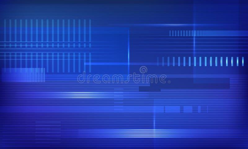 传染媒介蓝色techno背景 皇族释放例证