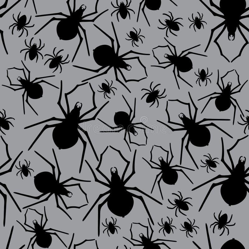 传染媒介蜘蛛无缝的样式 也corel凹道例证向量 库存例证