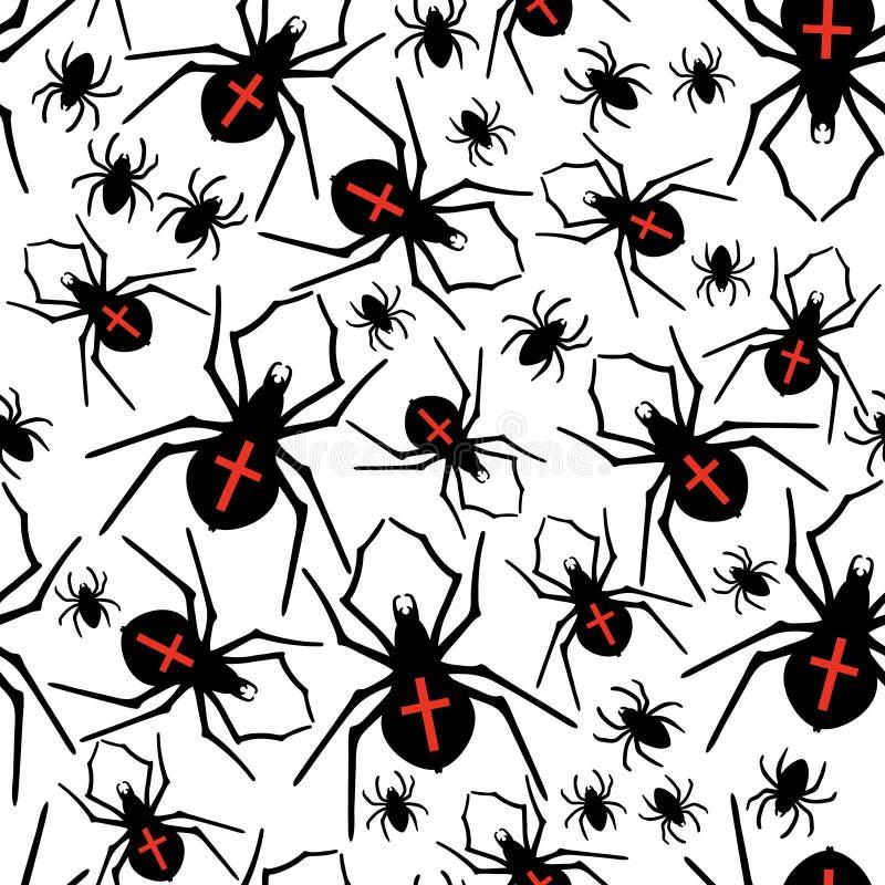 传染媒介蜘蛛无缝的样式 也corel凹道例证向量 皇族释放例证