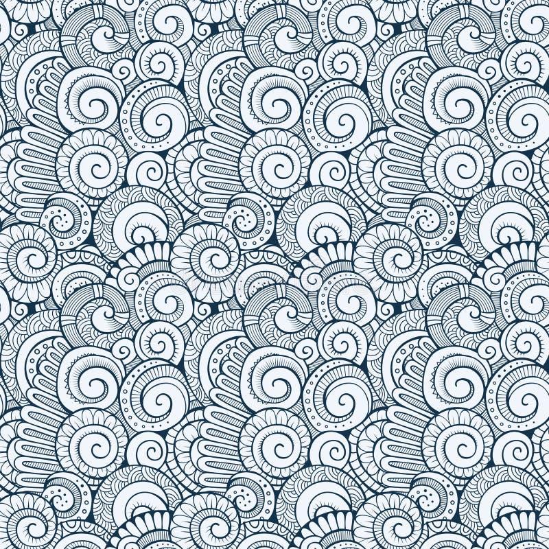 传染媒介螺旋装饰乱画样式 皇族释放例证