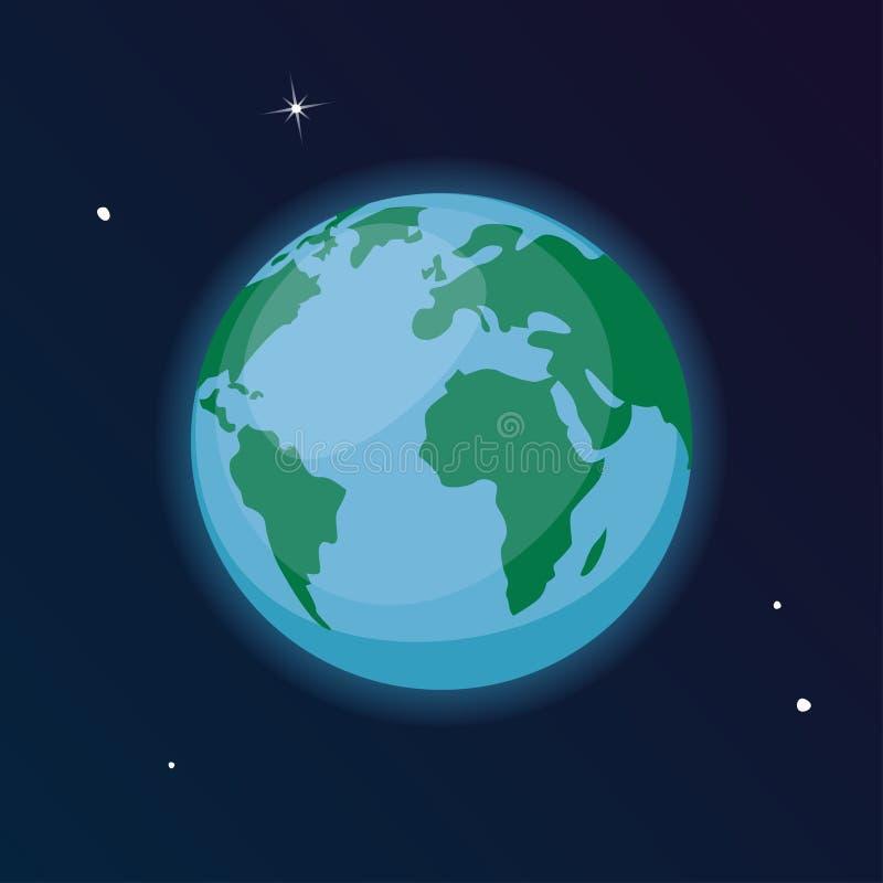 传染媒介行星地球例证 向量例证
