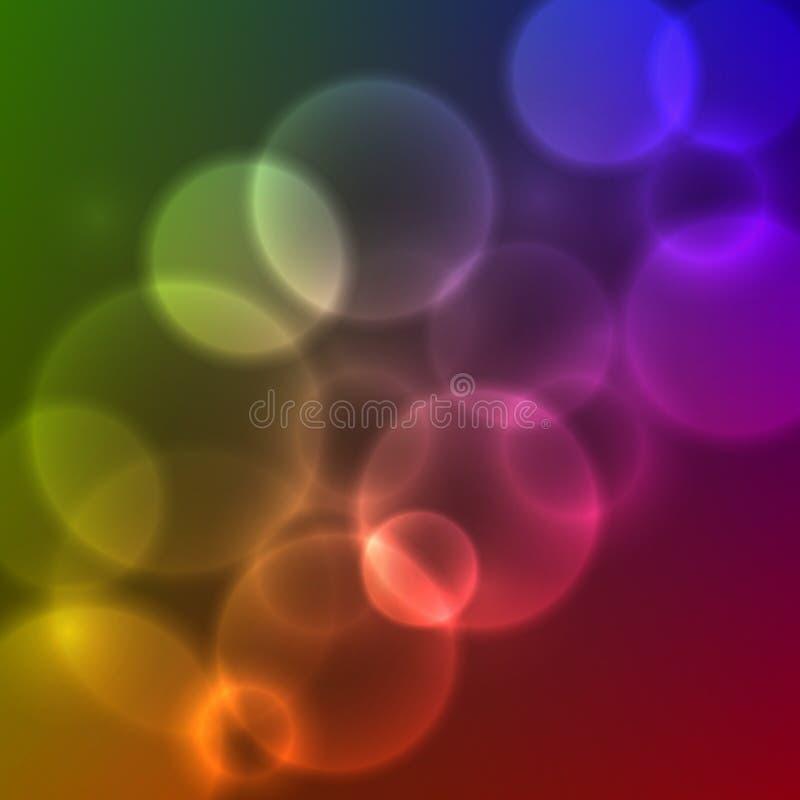 传染媒介被弄脏的光 库存例证