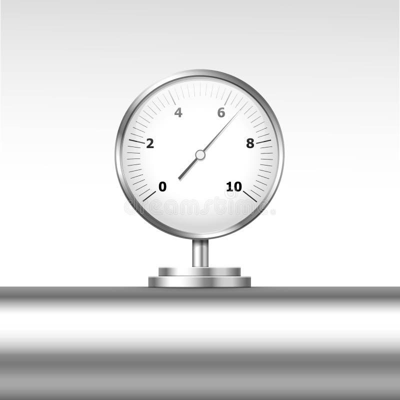 传染媒介被隔绝的压力表测压器 向量例证