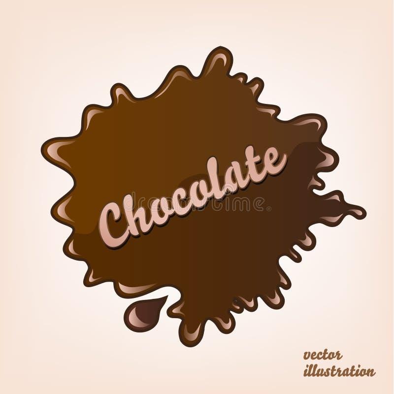 传染媒介被隔绝的巧克力飞溅 皇族释放例证