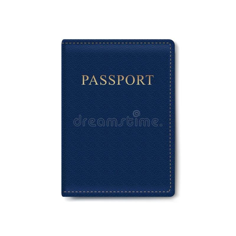 传染媒介被隔绝的护照的皮革盖子 皇族释放例证