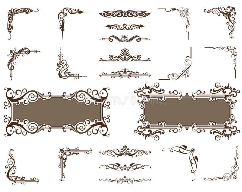 传染媒介装饰品被设置的角落边界 皇族释放例证