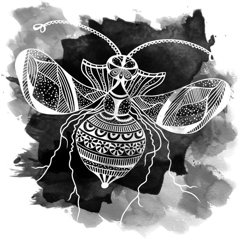 传染媒介装饰昆虫蝴蝶艺术 皇族释放例证
