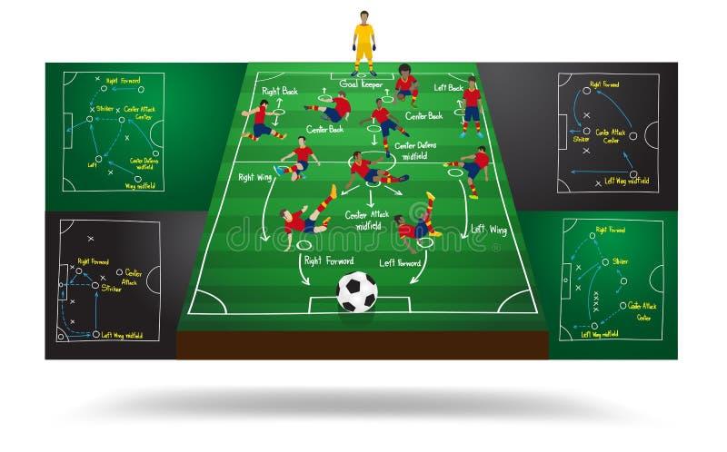 传染媒介西班牙国家队足球足球运动员 向量例证