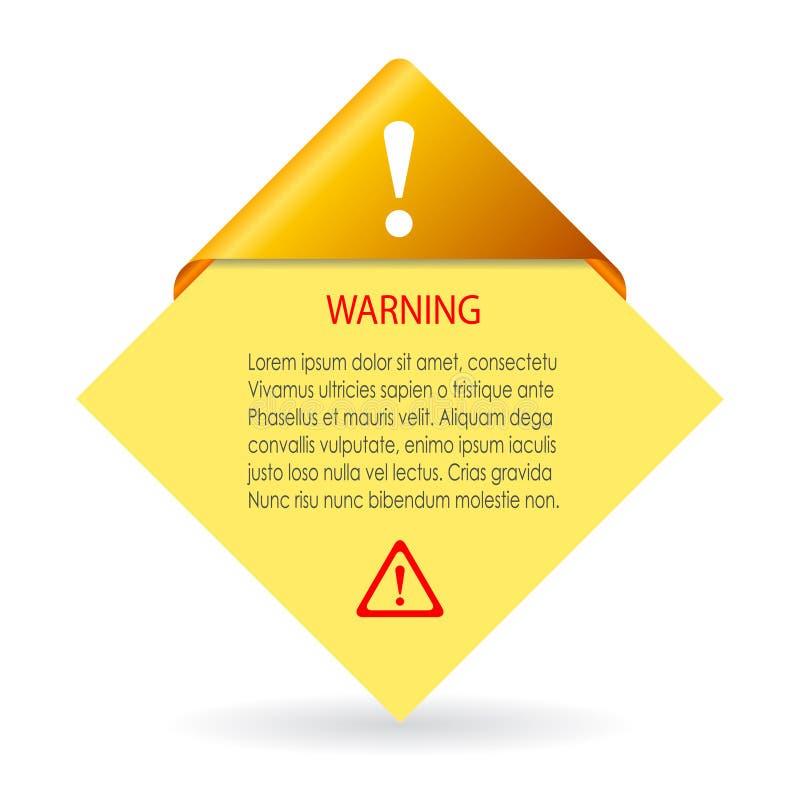 传染媒介警告卡片 向量例证