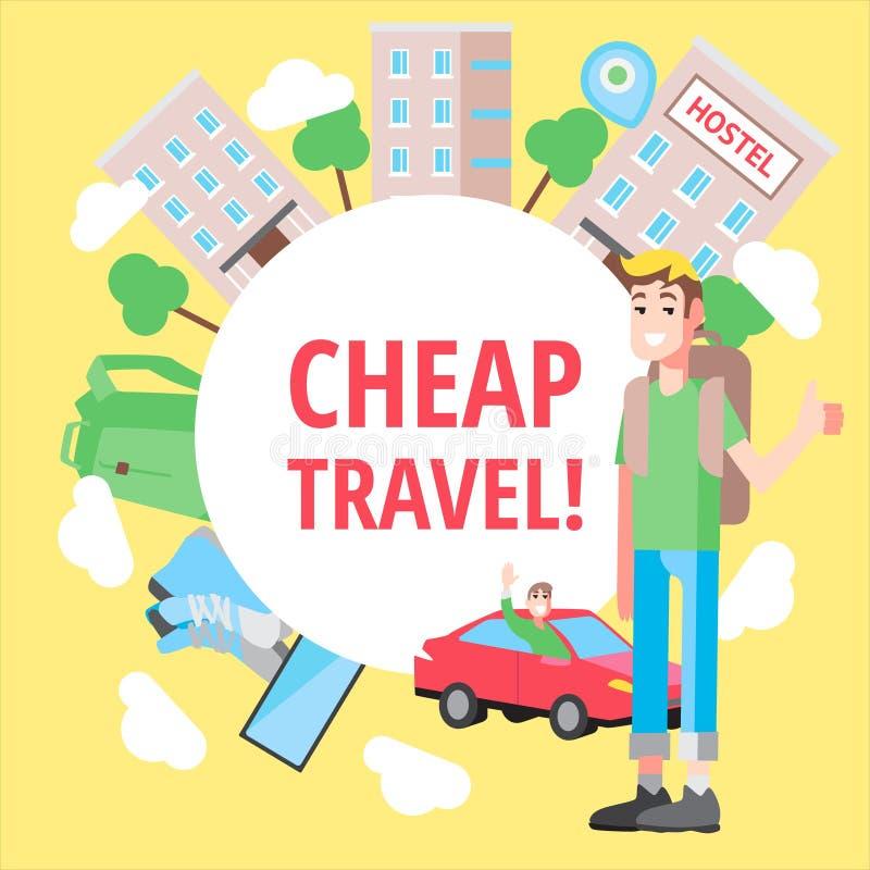 传染媒介设计观念便宜的旅行 向量例证