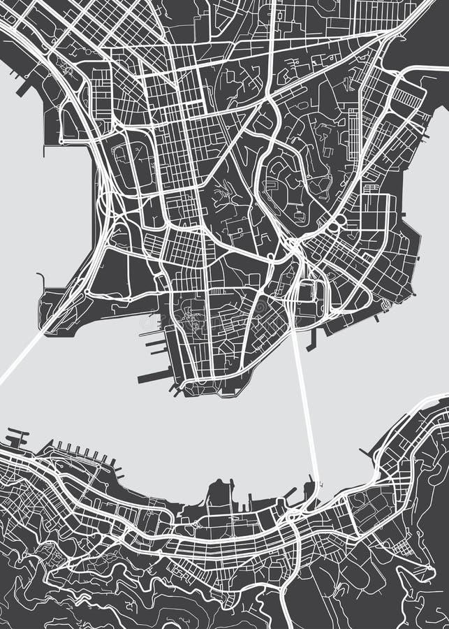 传染媒介详细的地图香港 皇族释放例证