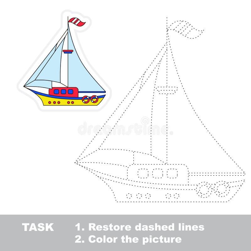 传染媒介踪影比赛 将被追踪的小船 皇族释放例证