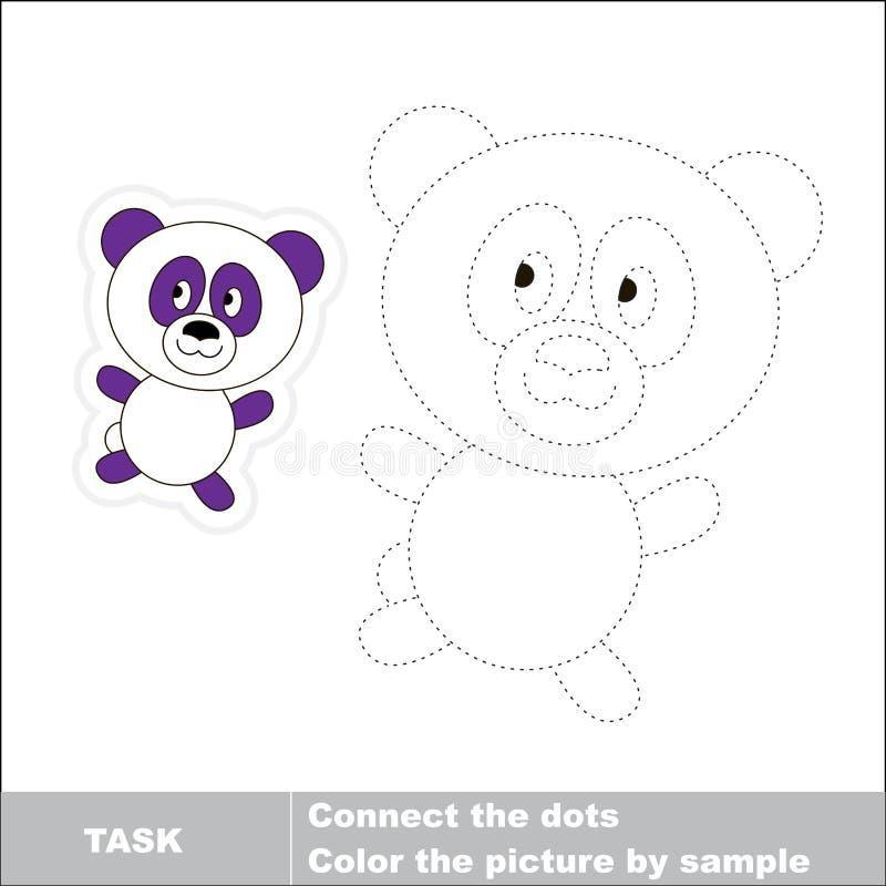 传染媒介踪影比赛 将被追踪的熊猫 向量例证