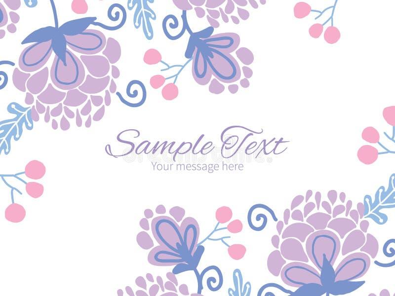 传染媒介软的紫色花水平的双 库存例证