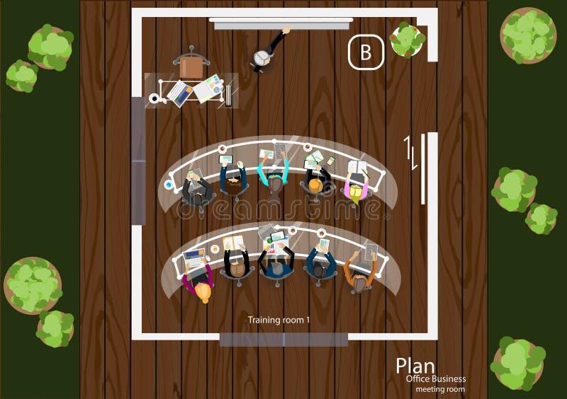 传染媒介运作业务会议和激发灵感的步幅 向量例证