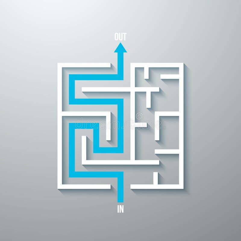 传染媒介迷宫迷宫简单的象 皇族释放例证