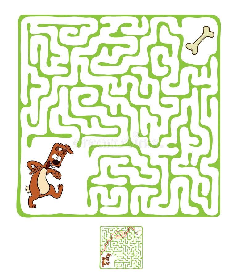 传染媒介迷宫,与狗的迷宫 库存例证