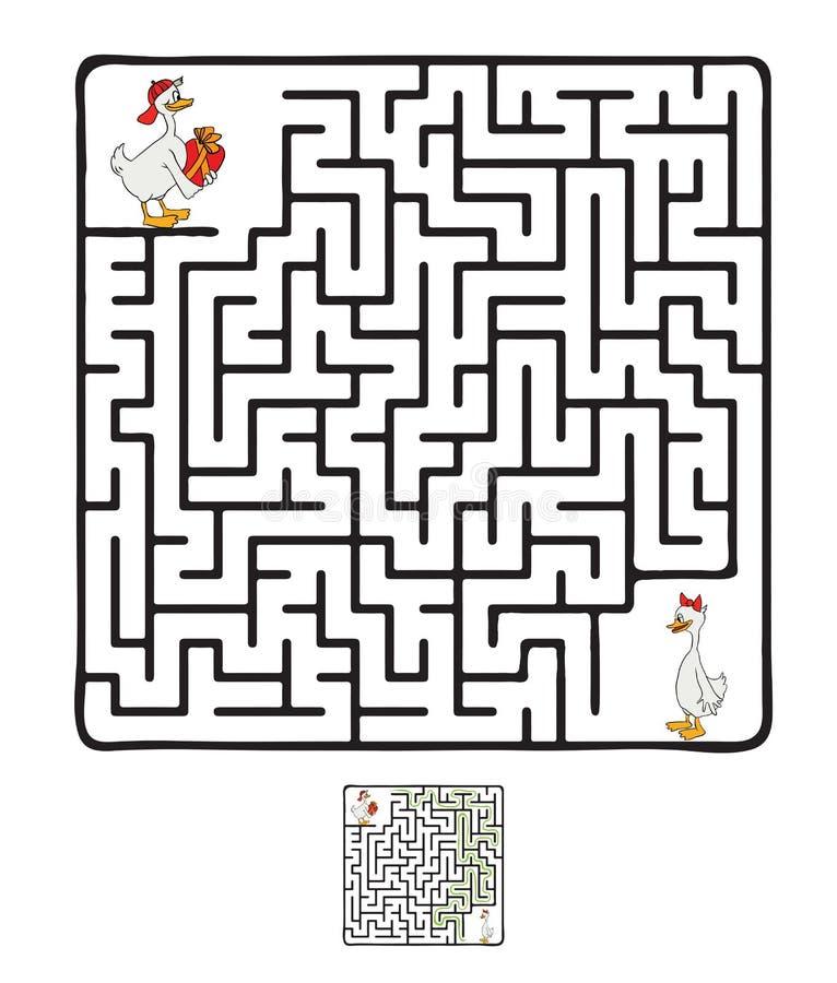 传染媒介迷宫,与鸭子的迷宫 皇族释放例证