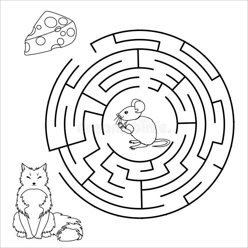 传染媒介迷宫,迷宫教育比赛 皇族释放例证