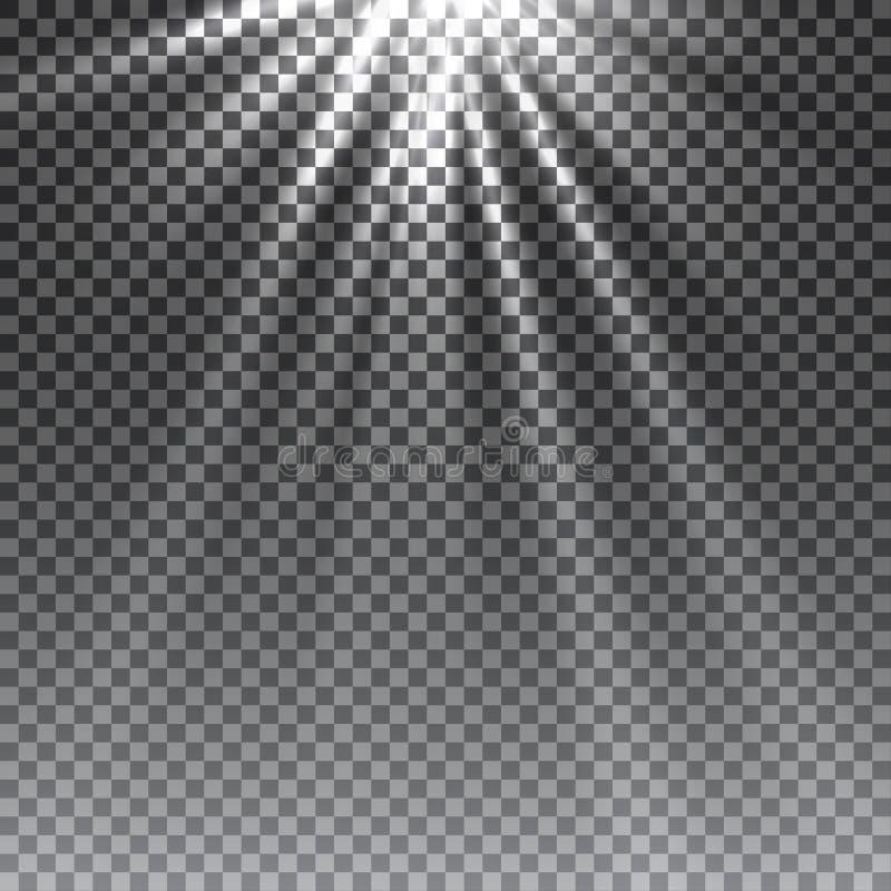 传染媒介透明阳光特别透镜火光光线影响 向量例证